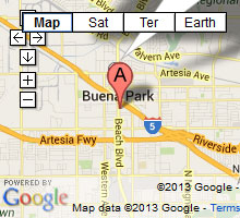 buena park bail bonds map